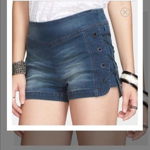 Free People Lace Up Shorts